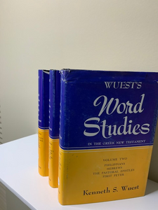 Wuest's Word Study four vols (one missing)