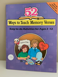 52 Ways to Teach Memory Verses, by Nancy S. Williamson