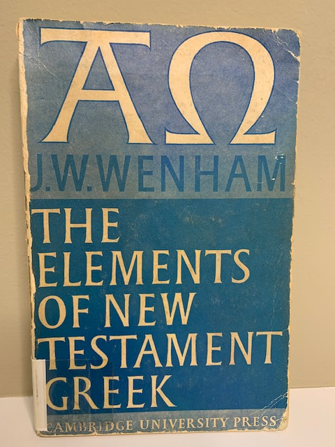 The Elements of New Elements Greek, by J. W. Wenham