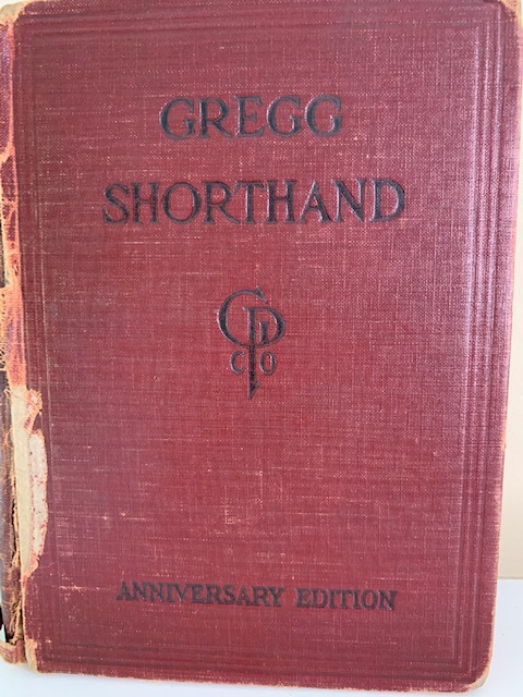 Greg Shorthand, from 1929