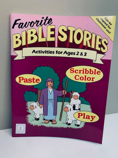 Favorite Bible Stories: Activities for Ages 2-3, by Rainbow Publishers