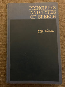 Principles and Types of Speech by Alan H. Monroe