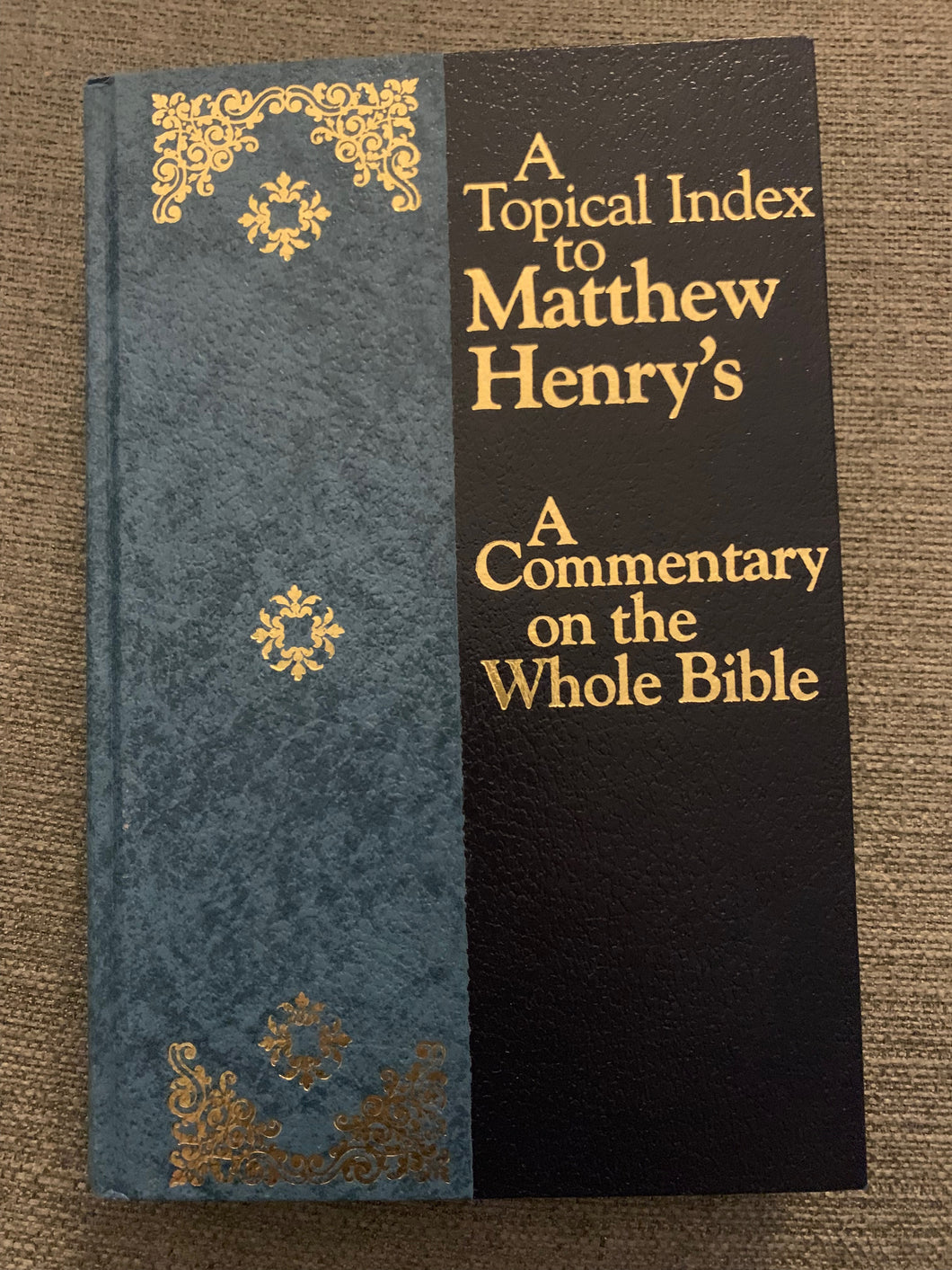 A Topical Index to Matthew Henry's: A Commentary on the Whole Bible