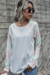 Tie-Dye Stitching Basic T-Shirt