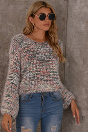 Colorful Knitted Short Sweater