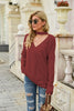 Street Deep V-neck Solid Color Sweater