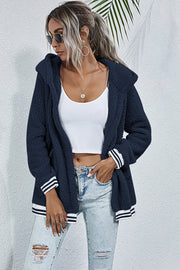 Cashmere Hooded Long-Sleeve Outer