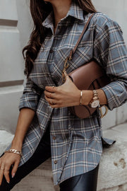Plaid Mid-Length Long-Sleeved Shirt