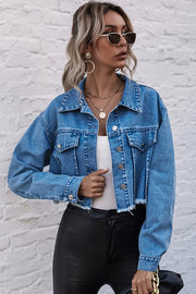 Loose Cropped Denim Jacket