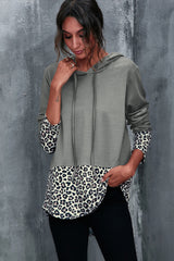 Leopard Print Stitching Top
