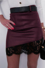 Buttock Lace Zipper Skirt