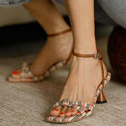 Roman Holiday Buckle Square Head Sandal