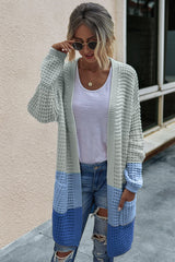 Knit cardigan sweater