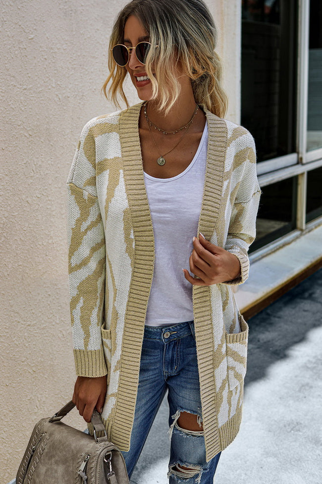 Mid-length sweater cardigan