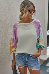 Printed Patchwork Top