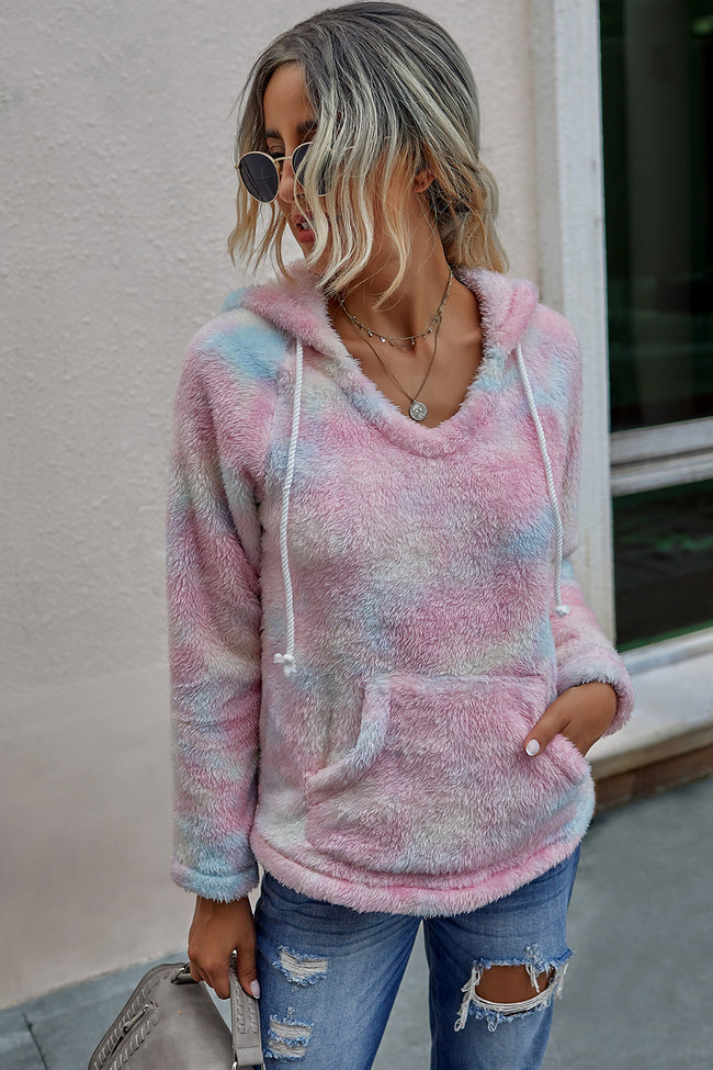 Tie-dyed Hooded Sweater
