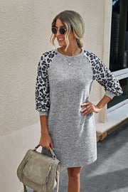 Leopard Patchwork Dress
