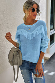 Patchwork Tassel Sweater