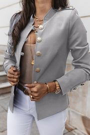 Long Sleeve Slim Breasted Suit Jacket