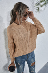 Stand Collar Knitted Sweater
