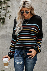 Long Sleeve Striped Loose Sweater