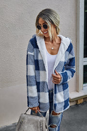 Plaid Plush Coat