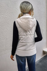 Zip Pocket Hooded Vest