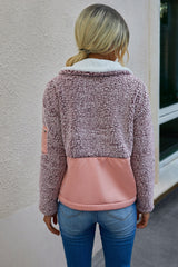 Patchwork Zip Pocket Pullover