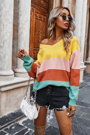 Striped Contrast Sweater