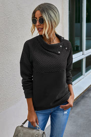Multi Panel Slant Collar Sweater