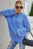 Large Size Loose Long-Sleeved Knitted Pullover