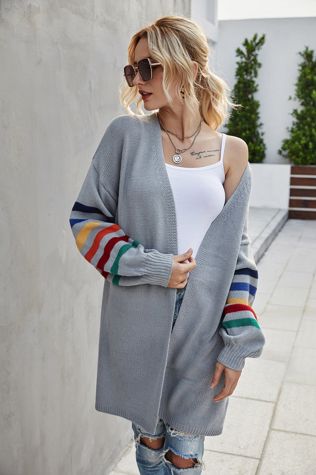 Large Size Loose Long-Sleeved Mid-Length Coat