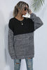 Round Neck Loose Stitching Sweater