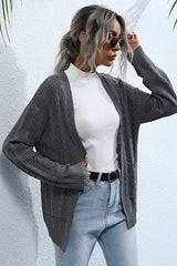 Solid Color Cardigan V-neck Sweater Coat