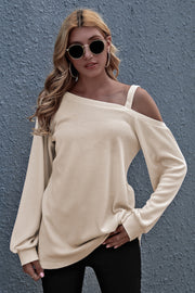 Off Shoulder Loose Long Sleeve Top
