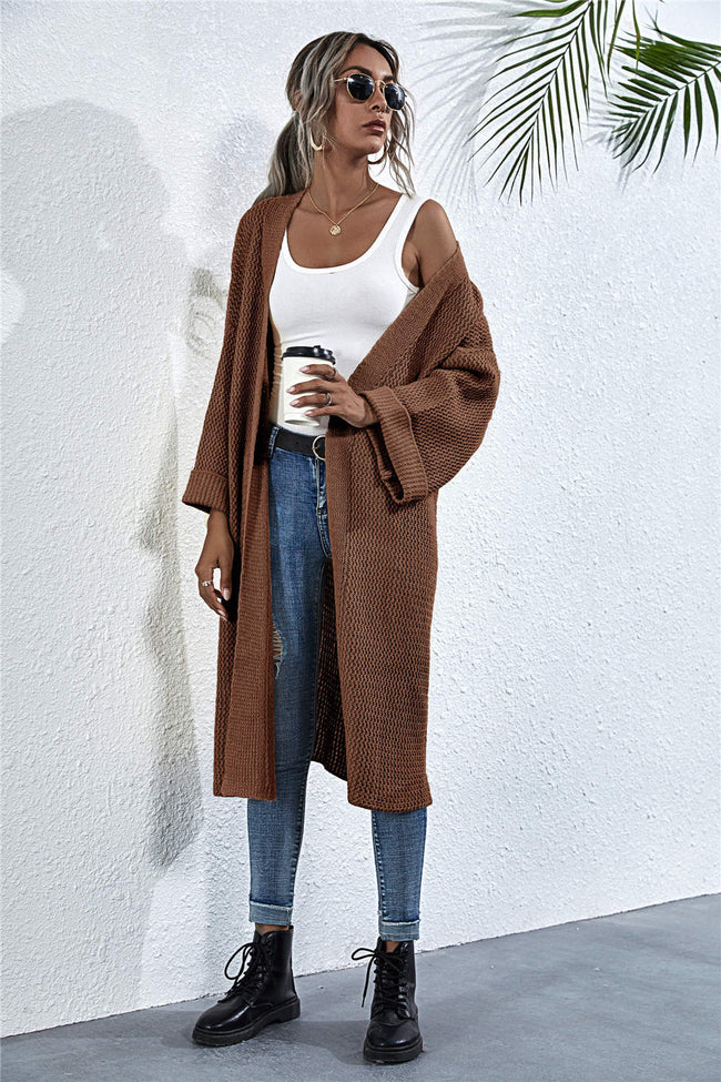 Loose Medium Length Cardigan