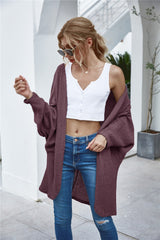 Patchwork Knit Loose Cardigan