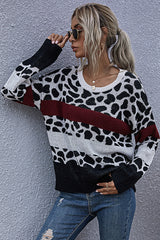 Slim-fit Knit Pullover Crew Neck Sweater
