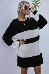High Waist Knitted Long Pullover Sweater