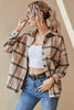 Single Breasted Plaid Thickened Long Sleeve Coat