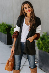 Thickened Contrast Cardigan Sweater