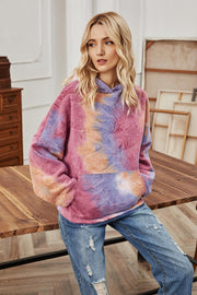 Hooded Tie-Dye Long-Sleeved Loose Coat