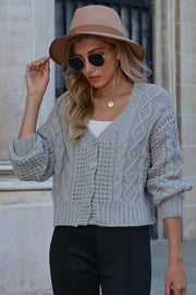 Solid Color V-neck Short Sweater