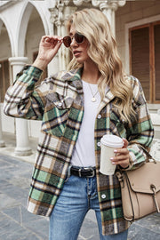 Lapel British Loose Plaid Jacket