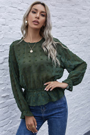 Round Neck Embroidered Shirt