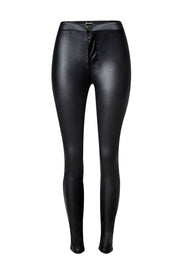 High Waist Motorcycle Street Leather Pants