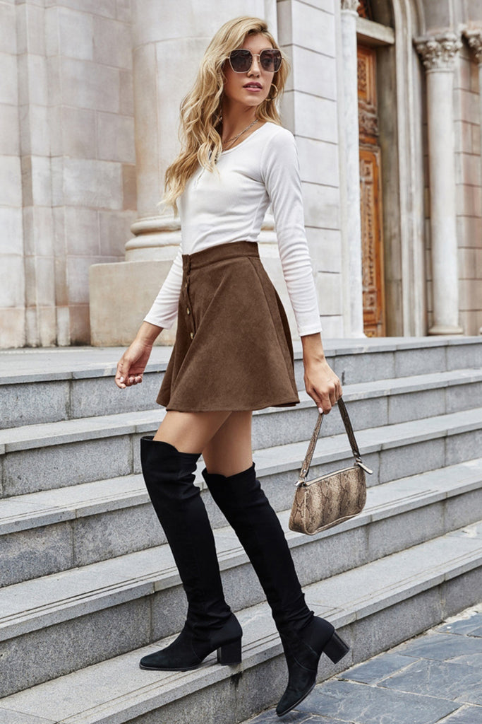 solid color flare sleeve slit sweater