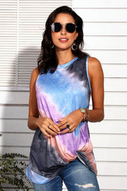 Tie Dye Gradient Sleeveless Vest