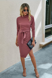 Irregular lace Up Hip Dress