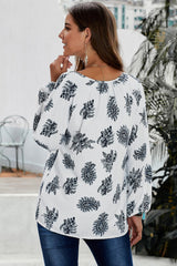 three quarter length sleeve loose blouse